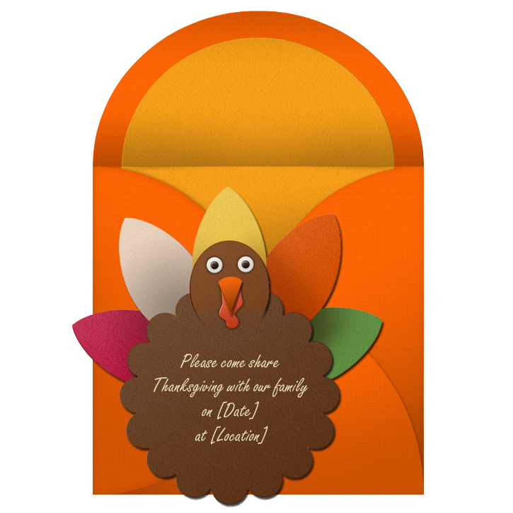 Scarecrow reccomend Thanksgiving invitation wording funny