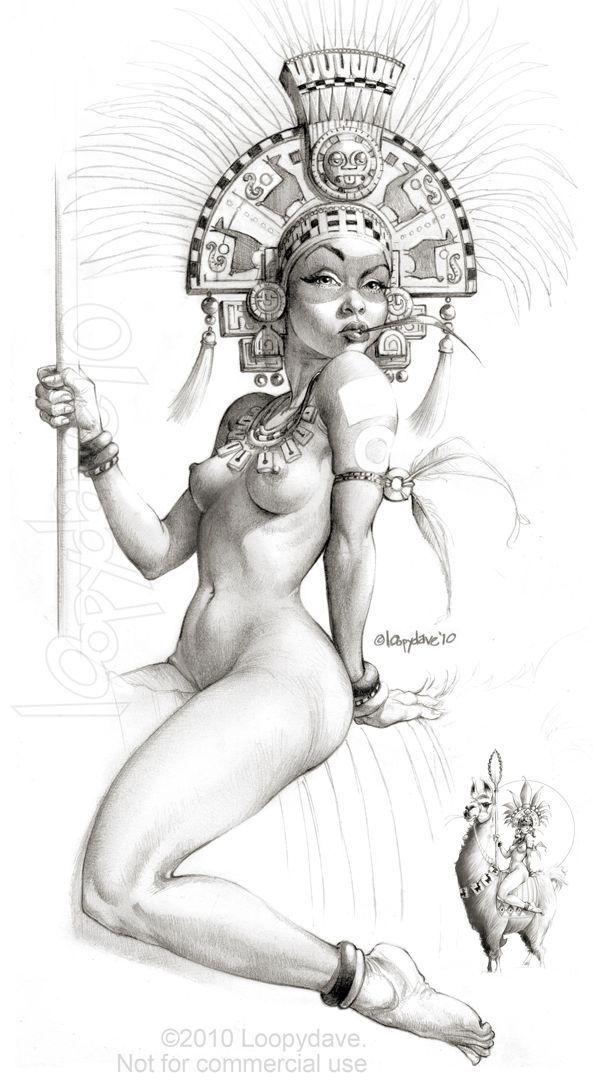 best of Aztec girl nude Cartoon
