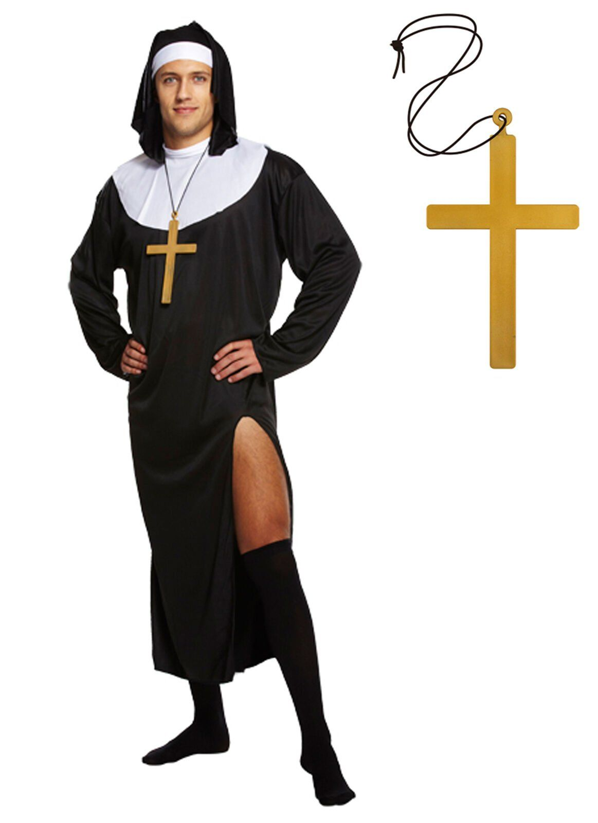 Funny priest and nun costumes