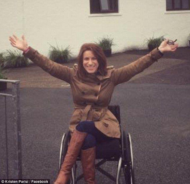Nude quadriplegic woman