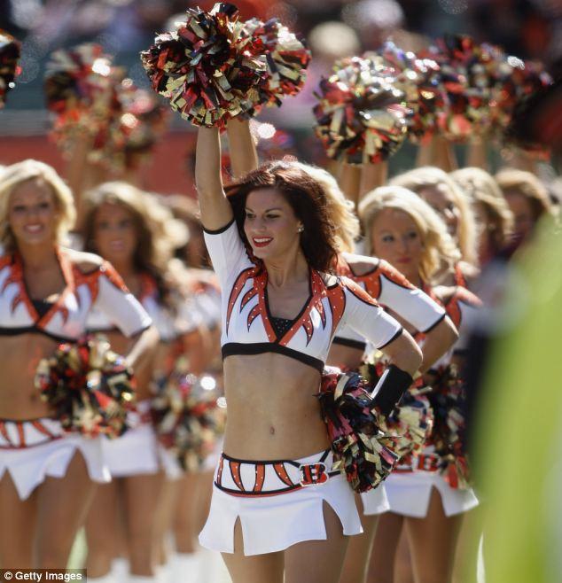 Redhead cheerleaders no panties