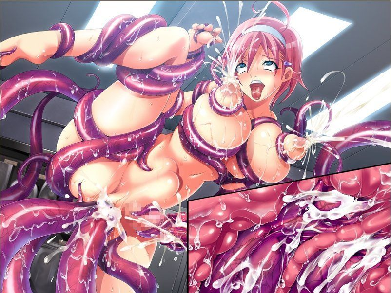 Red Headed Busty Hentai Babe Bondages and Fucked By the Tentacles