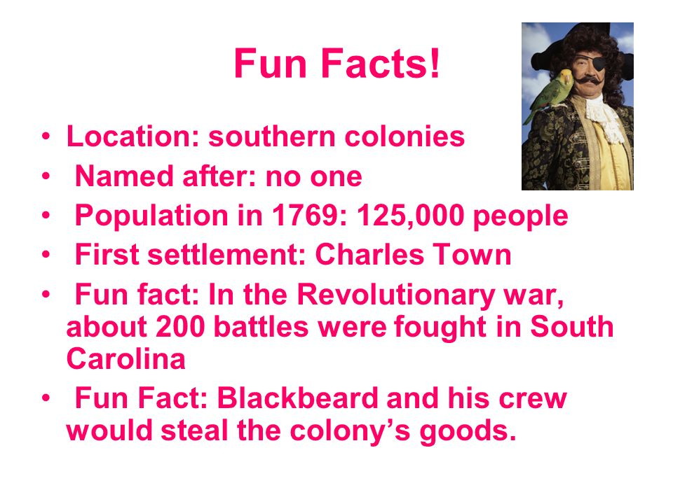 Bombay reccomend Fun facts about southern colonies