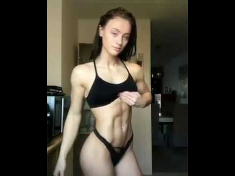 Teen women with abs