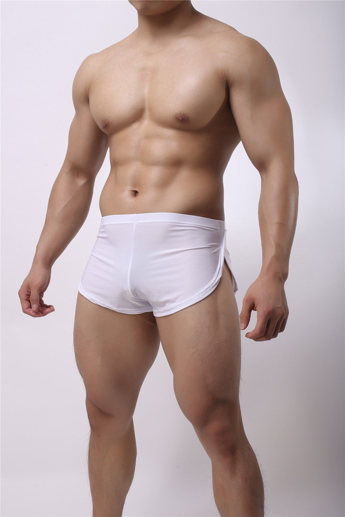 Bulging fetish in man shorts site