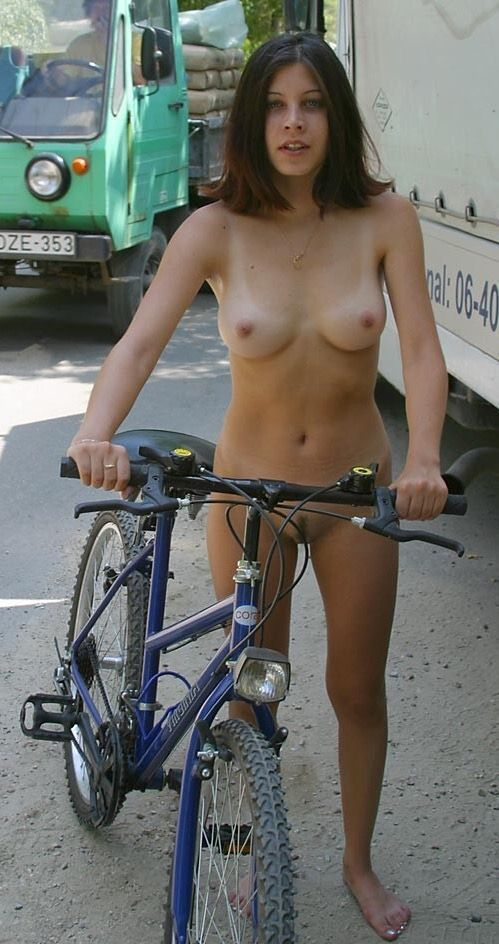 best of Girls nude Hot on bicycles