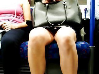 Upskirt on the train