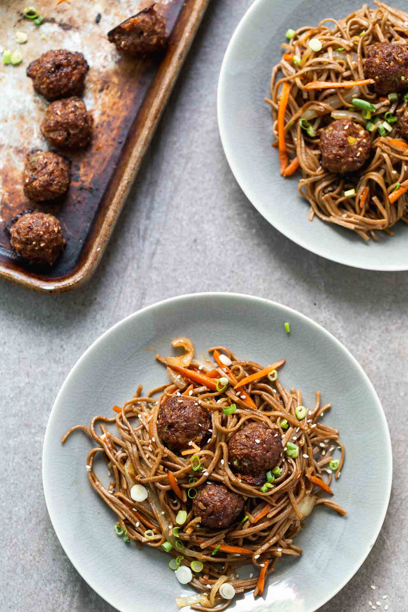 Dino reccomend Asian meatballs over sesame noodles