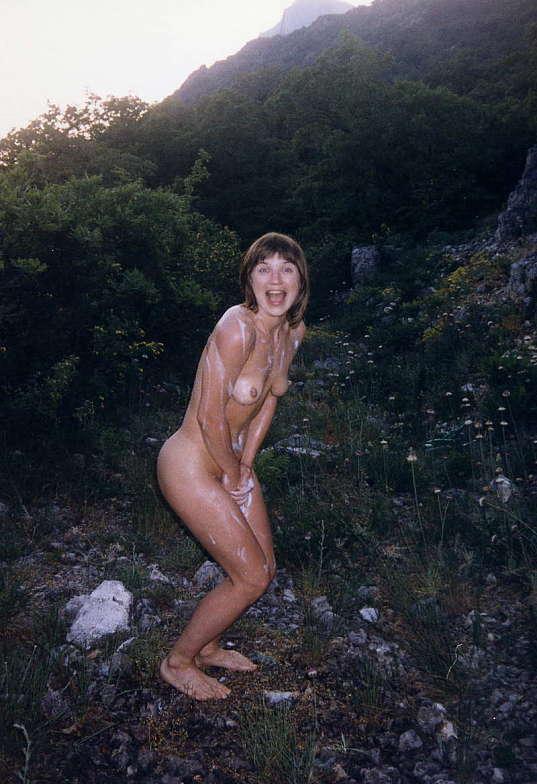 best of Outside girlfriend Nude shy