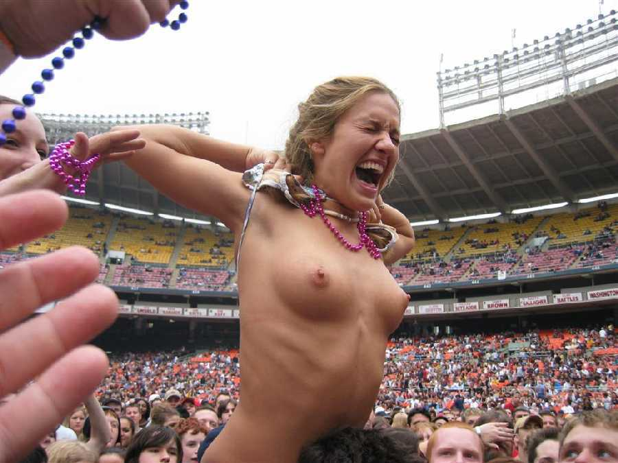 best of Flashing their tits Woman