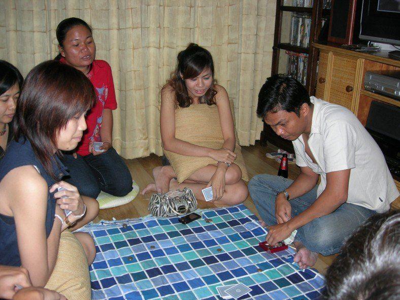 Strip poker wife friends