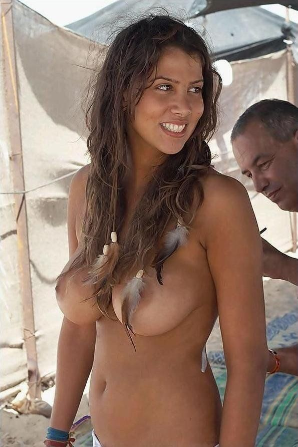 Beautiful nude women in the brazil beach