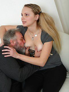 best of Of old man girls pic Naked kissing