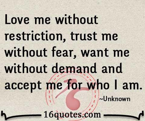Jessica R. reccomend Accept me for who i am