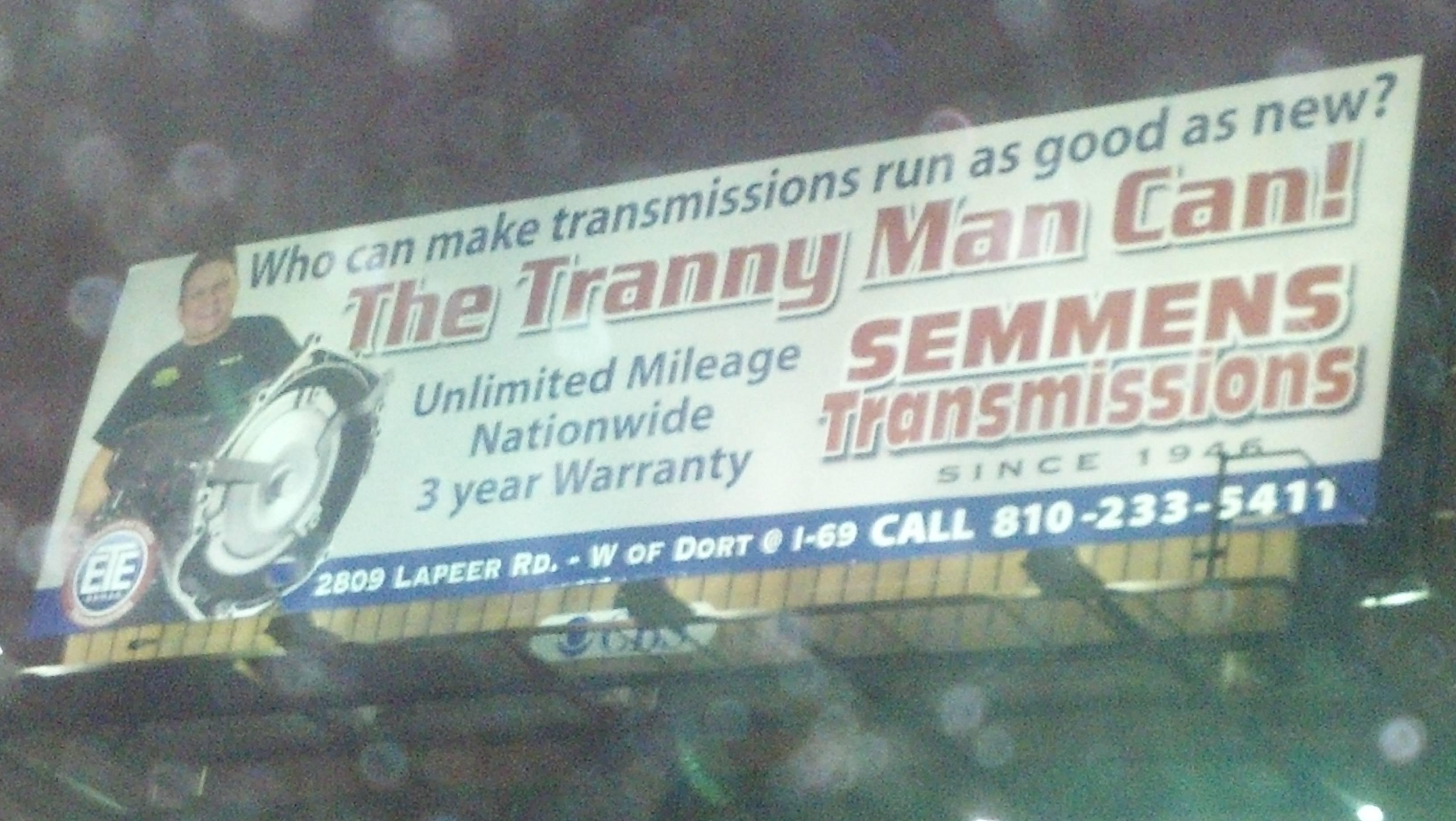 Jackal reccomend Tranny man transmissions