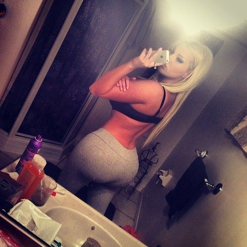 Naughty blonde perfect ass