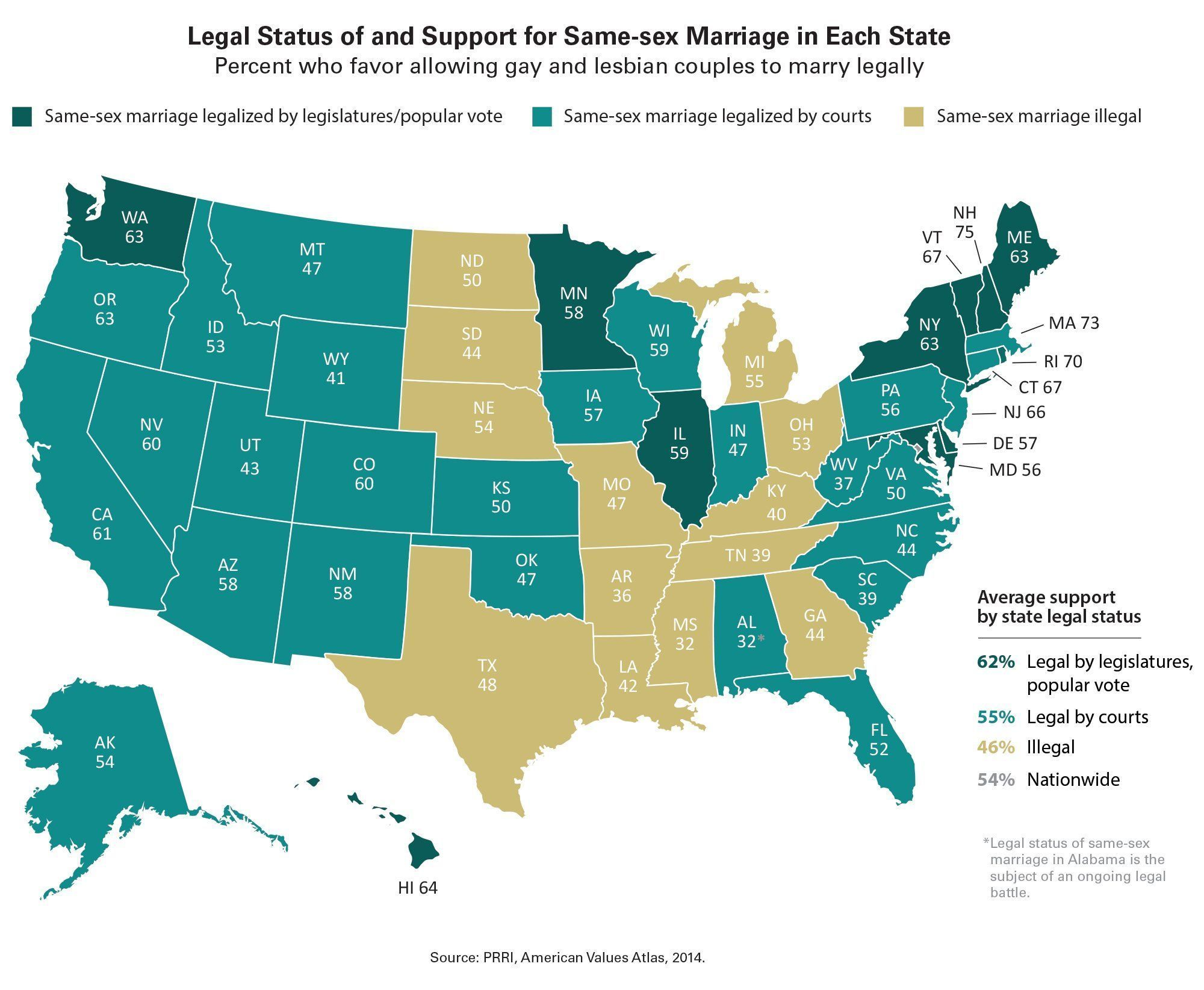 best of States gay Map of marriage