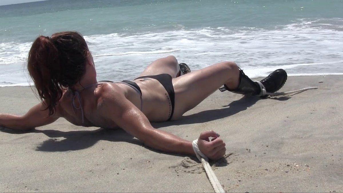 Hardcore bondage beach ass