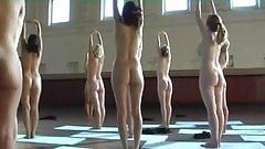 Nude coed group natural