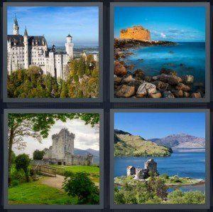 Uncle C. reccomend 4 pics 1 word castles