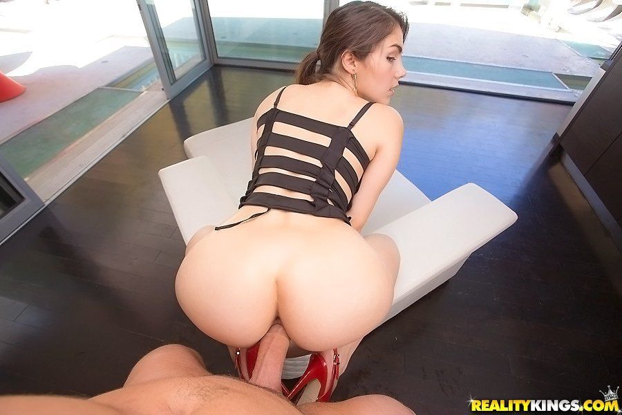 Girl sitting on dick anal