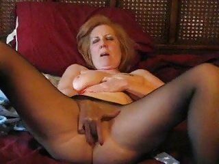 Granny wanks boy in pantyhose video