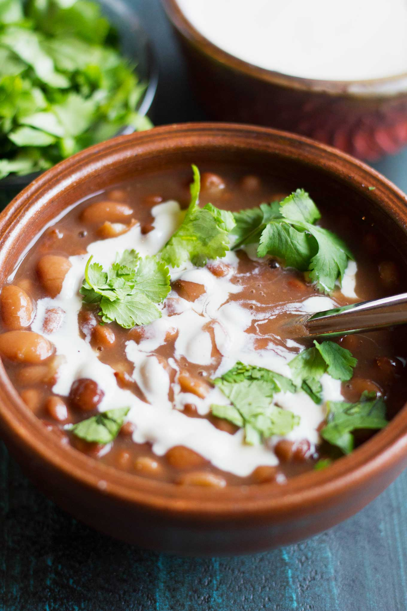 best of Mexican Bean bottom with pot on
