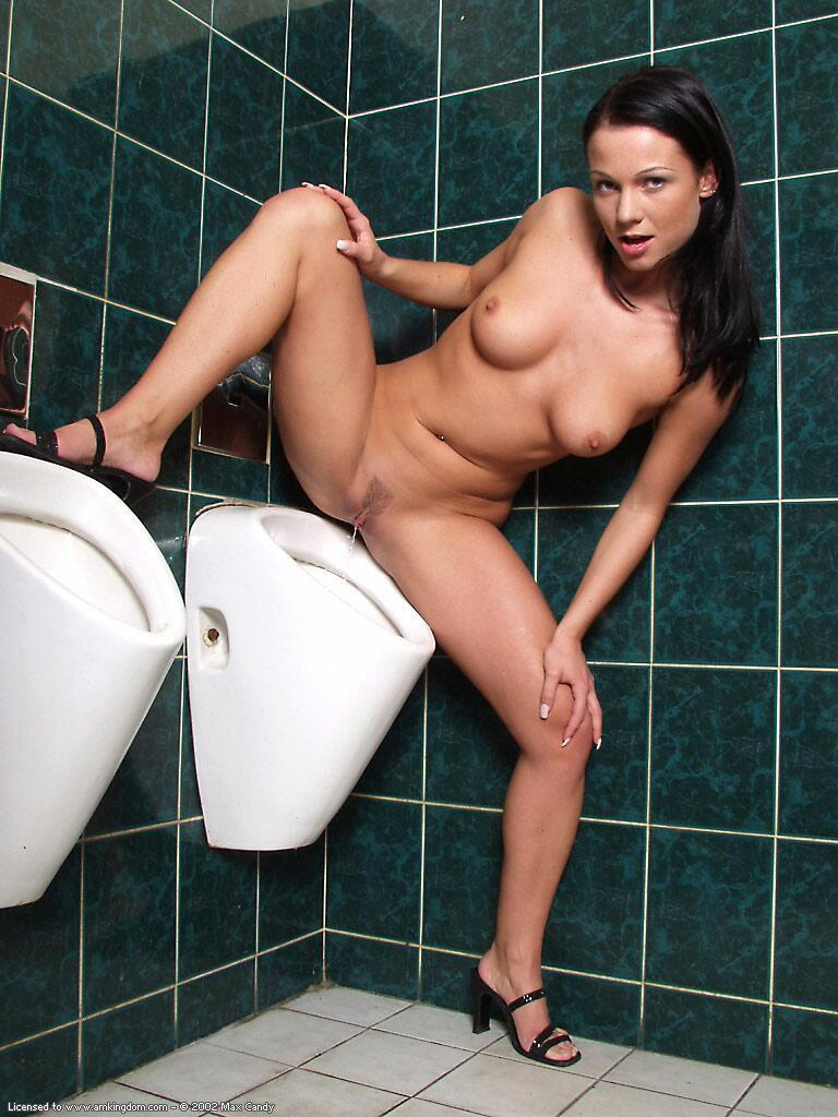 Butcher B. reccomend Girl using a urinal nude