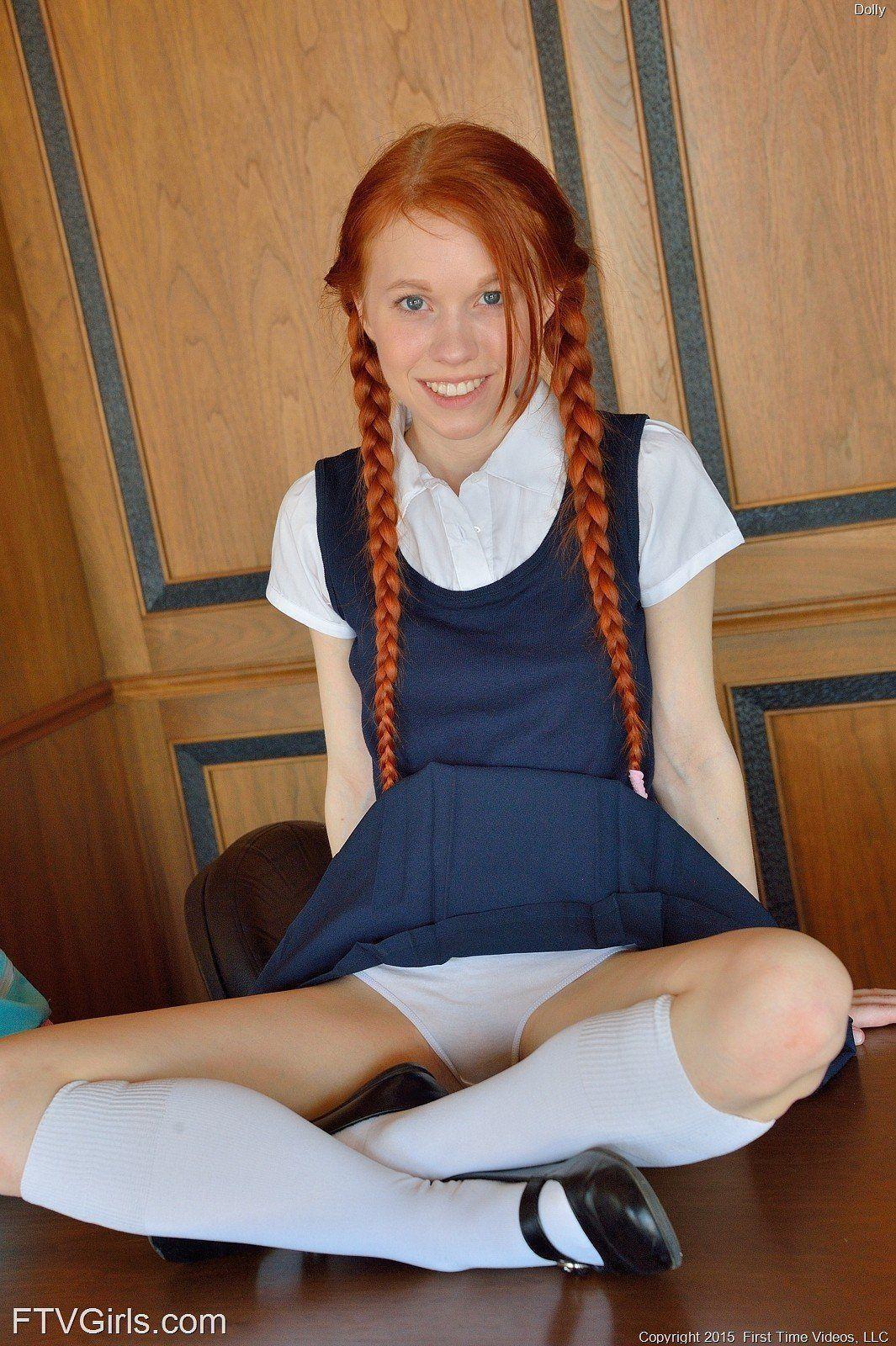 Redhead big dildo