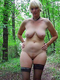 The abstract Busty mature outdoors easier
