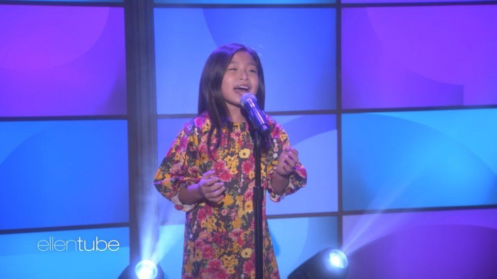 Dollface reccomend Asian girl from on ellen singing