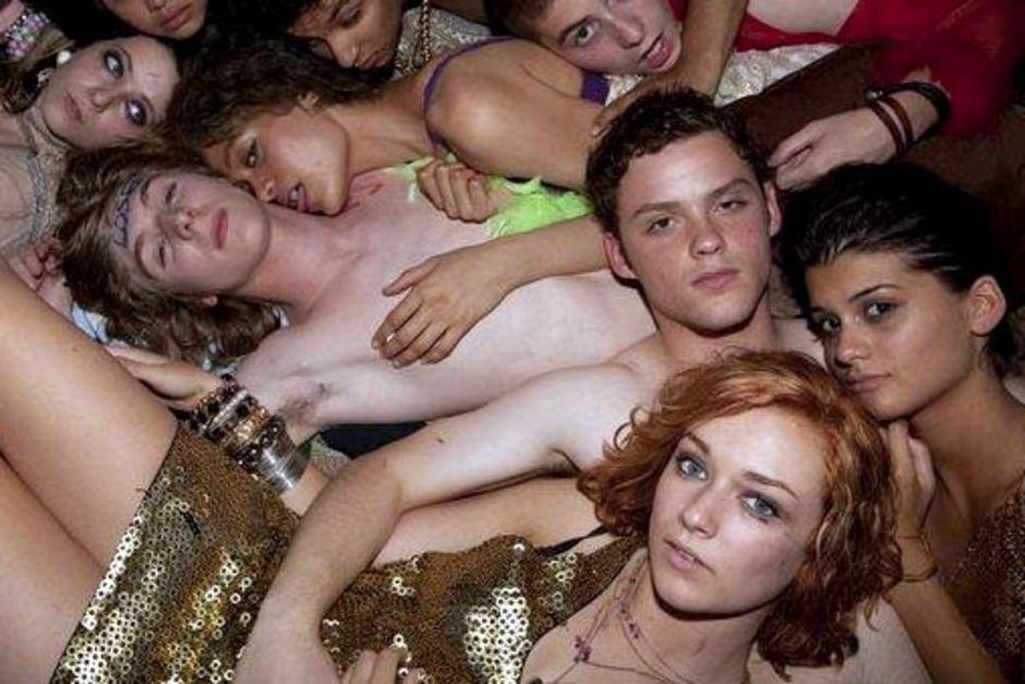 Teenagers nude in cinema