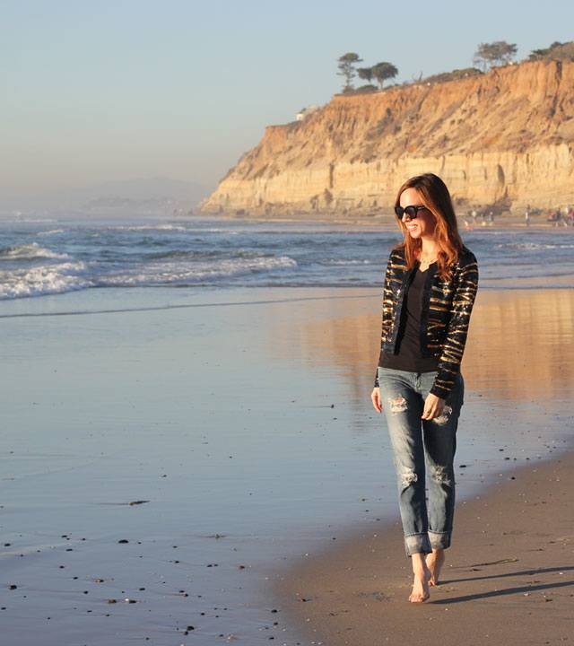Girl photo jeans beach
