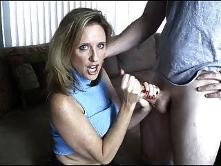 Milf gives tugjob video free
