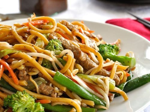 Cyclone reccomend Asian noodle stir fry