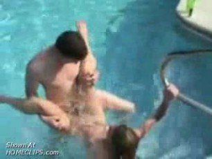 video of sex is in a pool