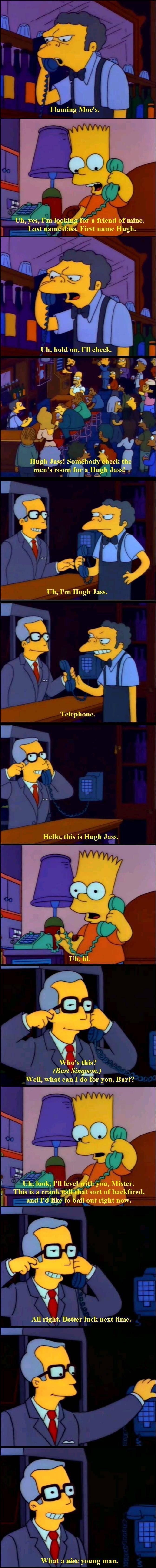 Patton reccomend Joke names hugh jass