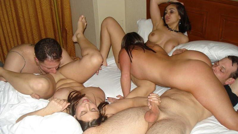 Homemade amateur swinger orgy video