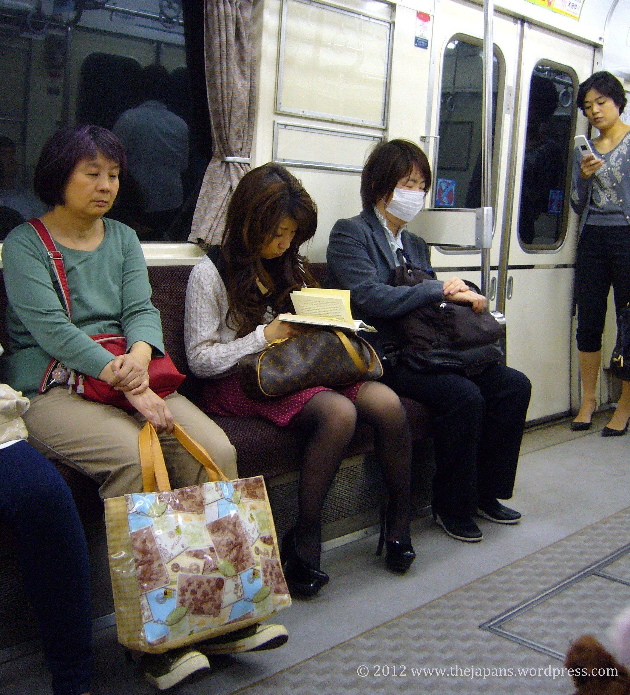 Japanese girls on train