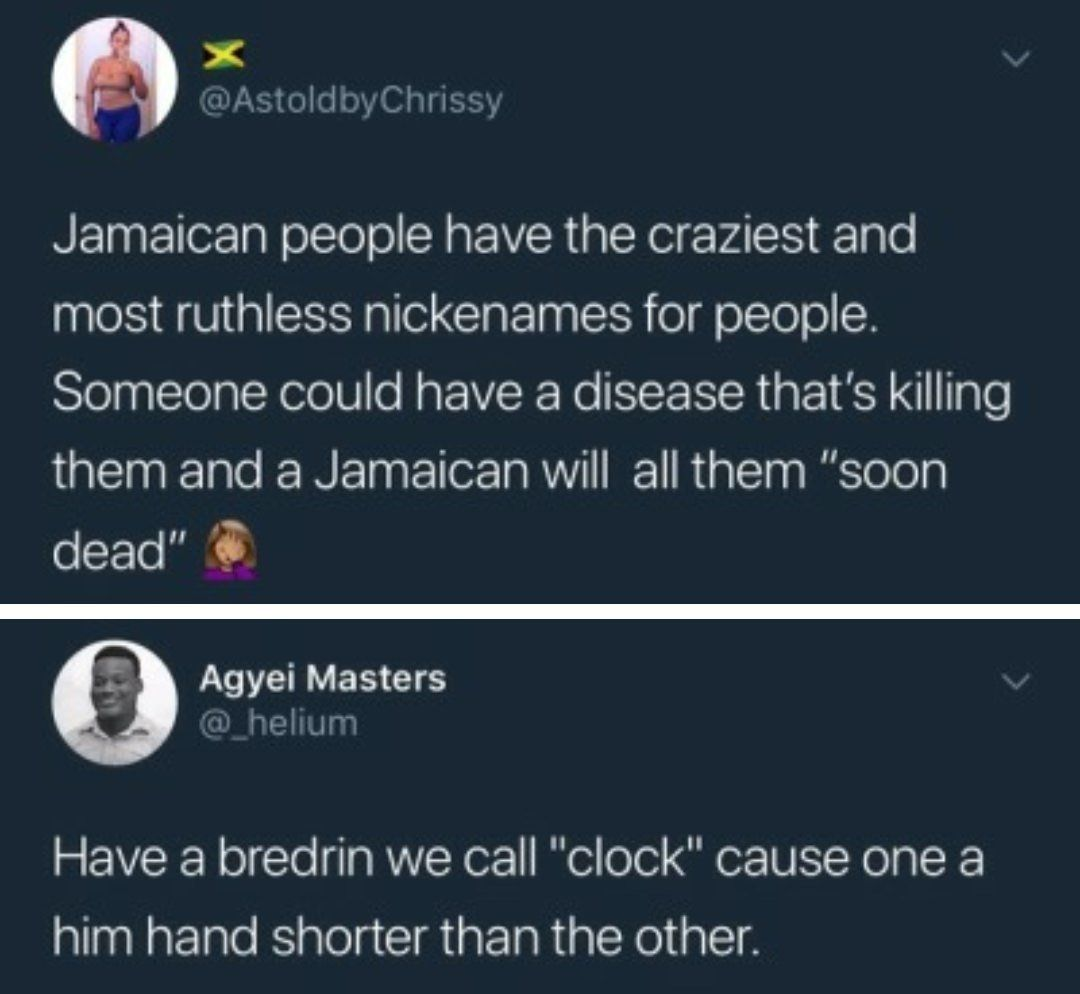 Bad M. F. reccomend Joke punchline welcome to jamaica