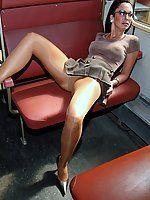 Trinity reccomend Mature pantyhose in public