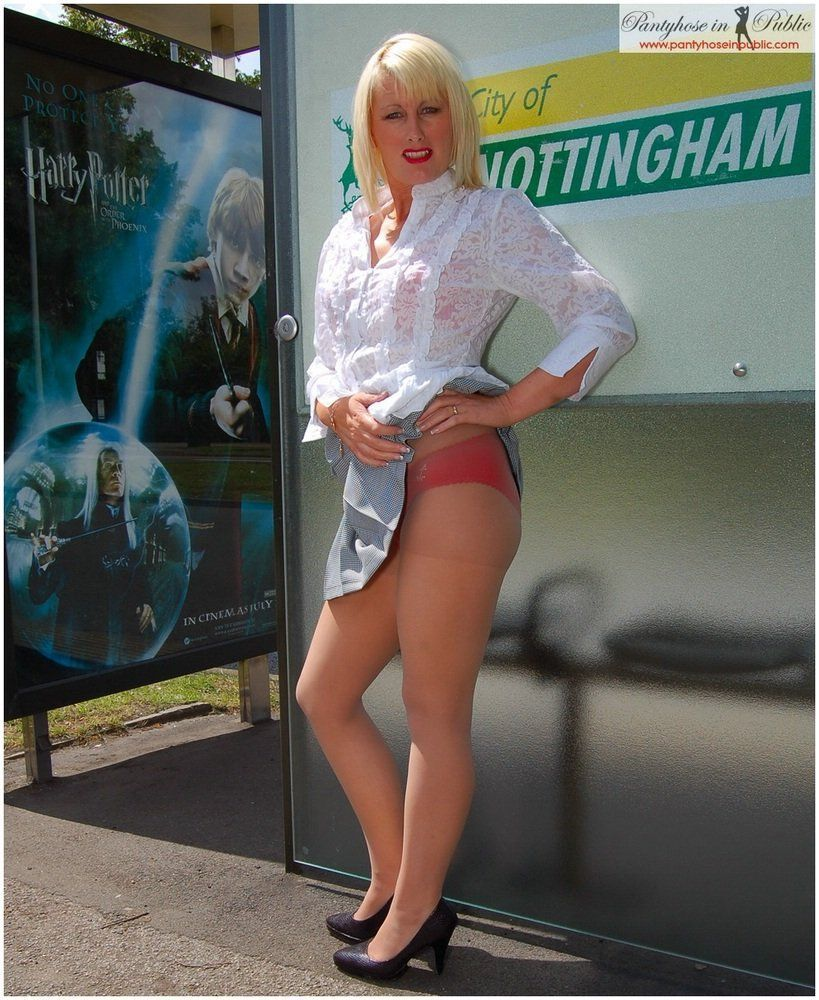 best of In Mature public pantyhose