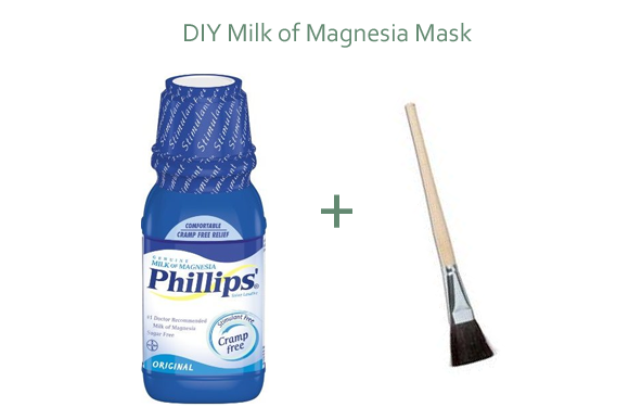 Mrs. R. reccomend Milk of magnesia facial mask