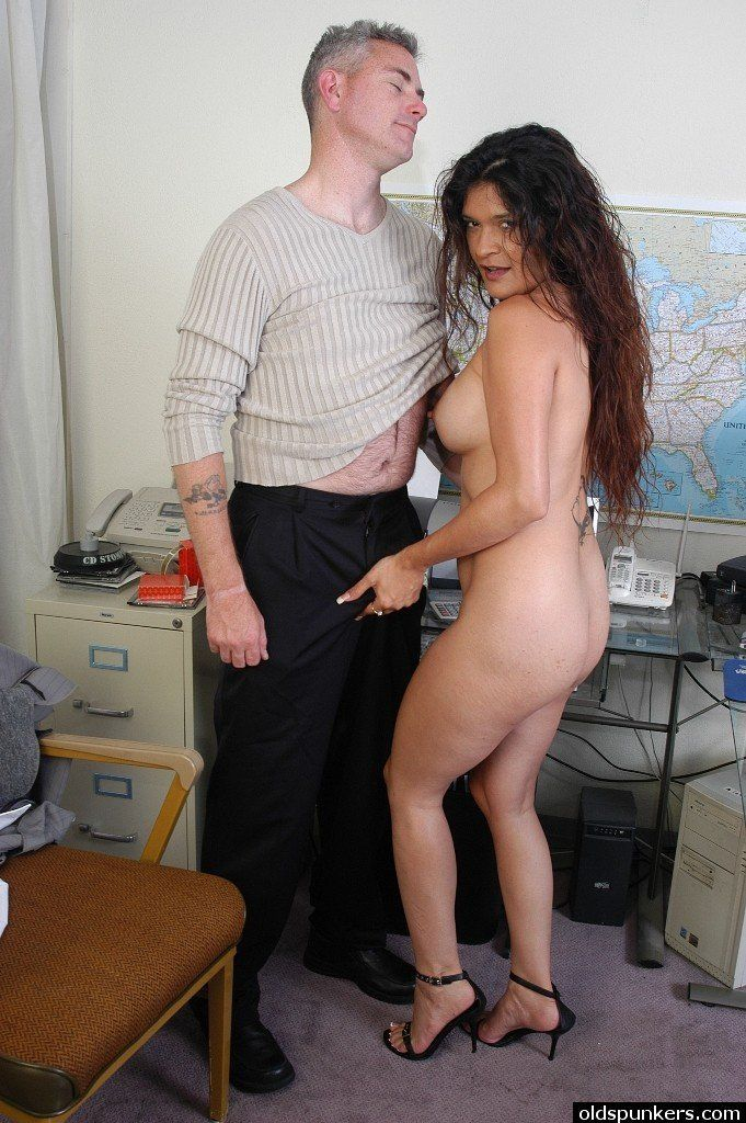 Naked women at the office