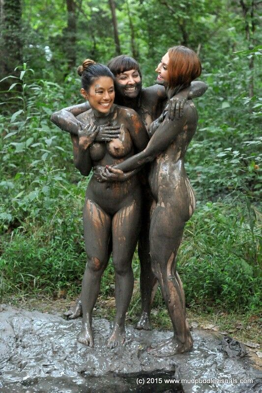 Naked pleasure in mud
