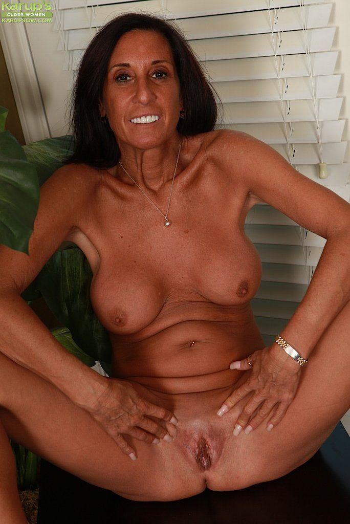 Naked old milf