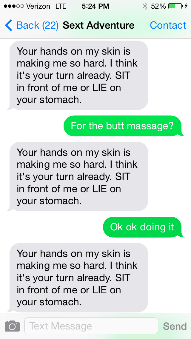 Sexting to turn a guy on