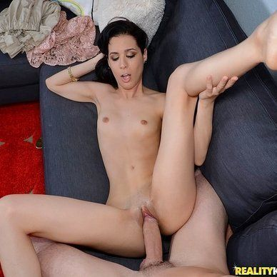 Naked sexy woman riding cock