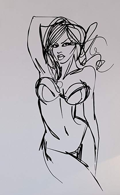 Naked scetch Hot girl