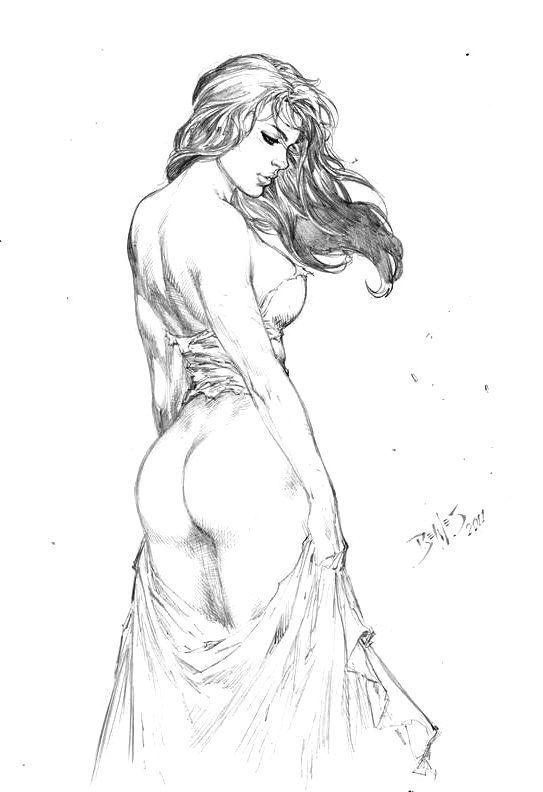 Champagne reccomend Sexy nude women sketch